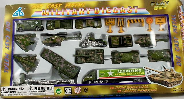 Wholesale DIECAST Military Sets | DIE CAST 20 Piece Set | 48 Sets