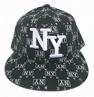 Wholesale NY Fitted BASEBALL CAP - Flat-Bill Hats - 12 DZ