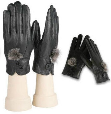 Wholesale Women's Fleece Lining LEATHER Gloves - 12 Doz