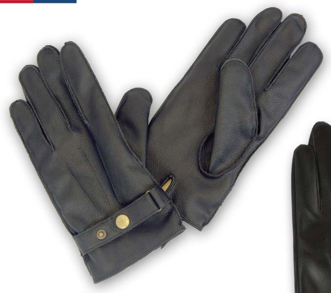 Wholesale Menâ??s LEATHER Gloves with Lining â?? 1 DZ