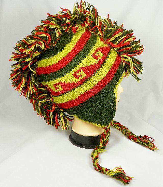 Knitting Pattern For Mohawk Hat : Wholesale Mohawk Hat Crochet Knit Mohawk