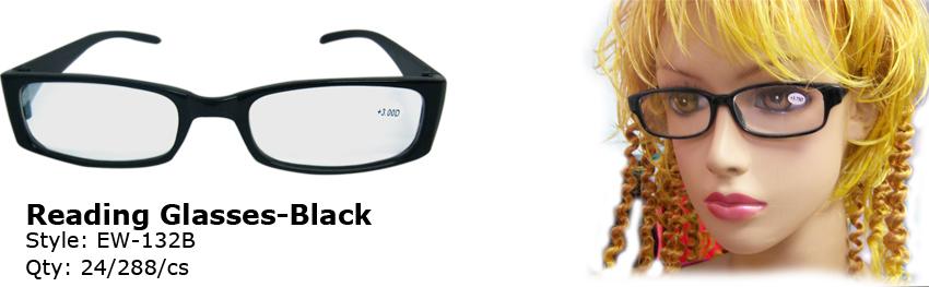 Wholesale Black Reading GLASSES | Powers +1.00 - +4.00 | 288 Pairs