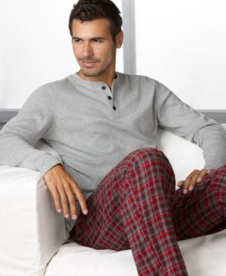 Club Room Pajamas - Men s 100% Cotton Pajamas Set 1a365eaa3