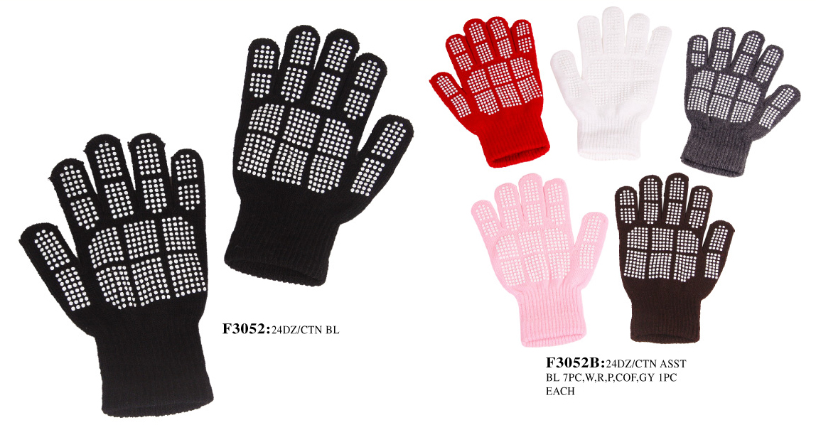 Wholesale Stretch Gloves with Grippers on The Palms – Gloves with Grip