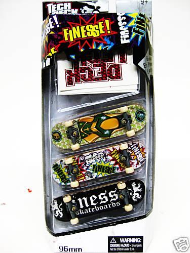 Tech Deck 3 Pack Finger Board 96MM SKATEBOARD â?? FINESSE