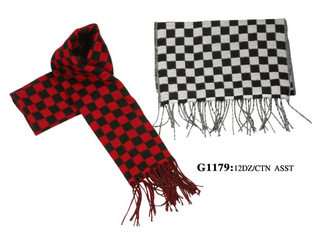 Wholesale Checker Pashmina SCARF - Pashmina Shawl - 12 DZ