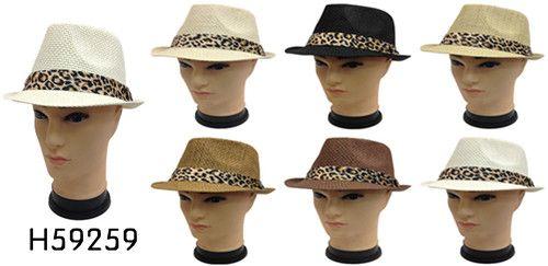 Wholesale Fedora Hats with ANIMAL Print BAND - 30 Hats