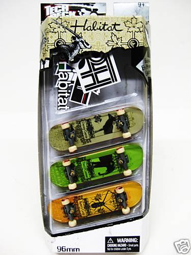 Tech Deck 3 Pack Finger Board 96MM SKATEBOARD â?? Habitat