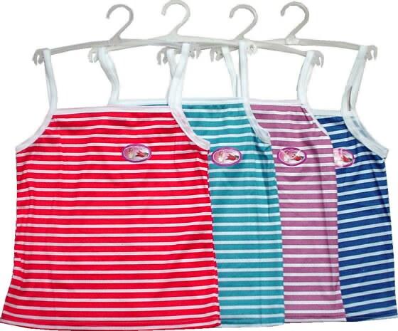 Wholesale Women's Stripe TANK TOPs with Hanger - 12 Doz