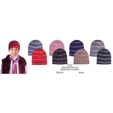 Wholesale Grid Winter Ski Hats - Assorted Colors 12 Dozen