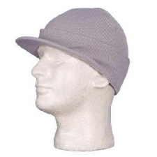 Grey Ski Hat Visor - Dozen Packed