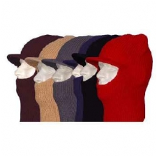 Mixed Colors Open Face Ski Mask with Brim - Dozen