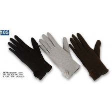 Wholesale Women's Wool Gloves with Faux Fur Patch - 12 DZ