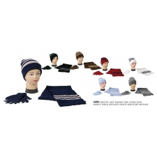 Wholesale Winter Set - Hat Scarf Gloves Set - 1 Doz
