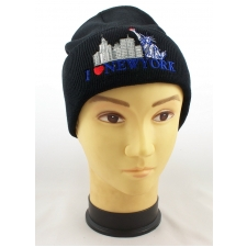 Wholesale New York Theme Ski Hats - NY Beanie – 1 Doz