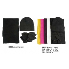 Wholesale Winter Set - Women's Hat Scarf & Gloves - 6 Dz