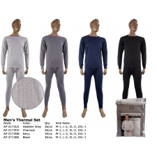 Wholesale Men's Thermals Sets with Fleece Lining - 3 Doz