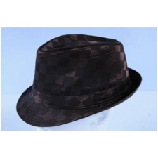 Wholesale Shiny Checker Fedora Hats | Checker Fedoras | 8 DZ