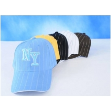 Wholesale Pinstriped NY Baseball Caps | 1 DZ