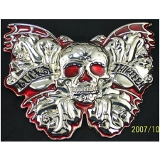 NEW LUCKY THIRTEEN SKULL BAT WINGS BUCKLE
