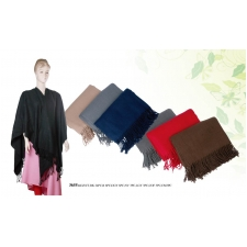 Wholesale Scarf | Plain Shawls with fringe ends | 1DZ