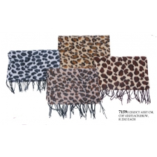 Wholesale Scarves - Animal Print Winter Scarf - 12 Doz