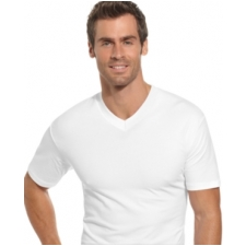 Alfani Men's Cotton Spandex V Neck T Shirt 2 Pack