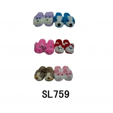 Wholesale Winter Slippers - Animal Slippers - 36 Pairs