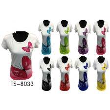 Wholesale T-Shirt - Women's T-Shirt with Butterfly - 12 Doz
