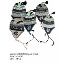 Wholesale Fleece Lined Earflap Hat - 12 DZ