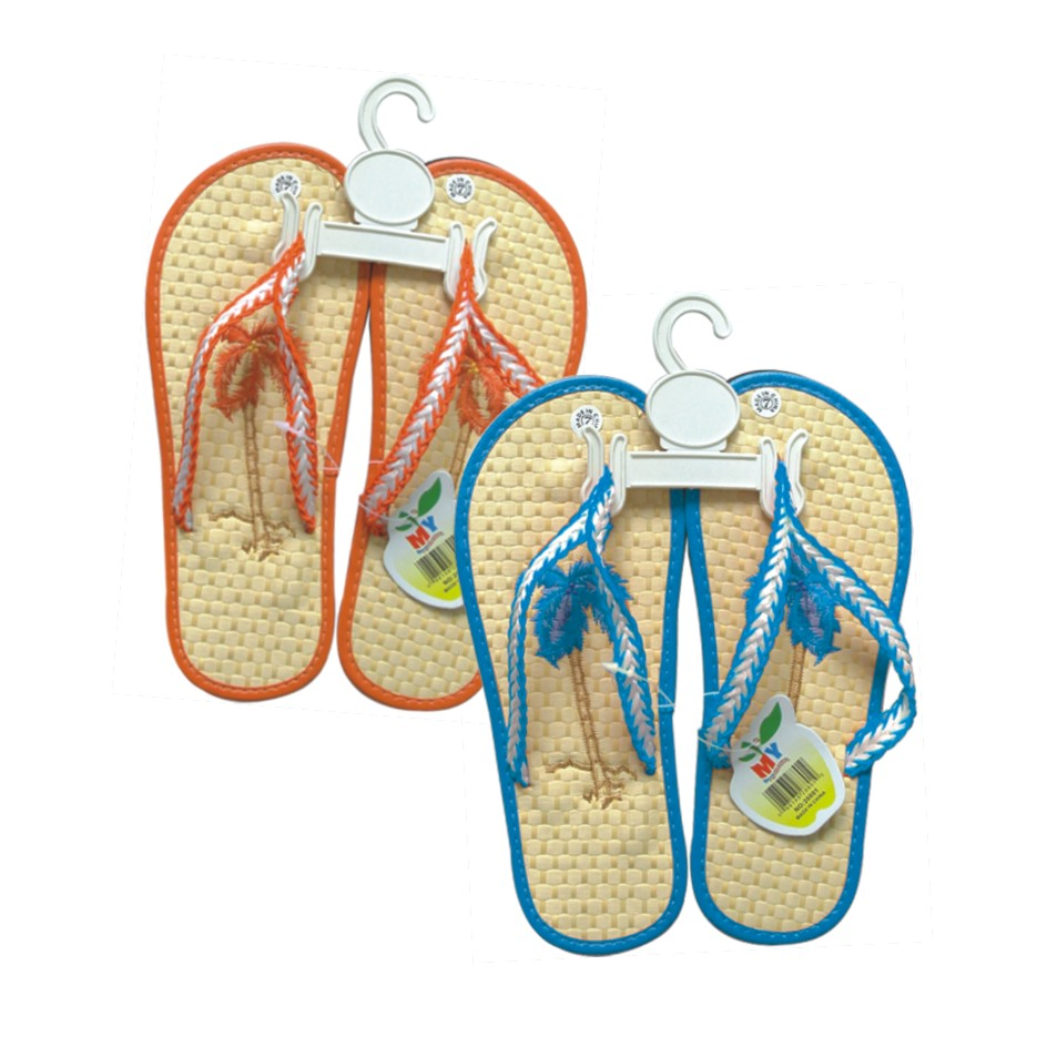 Wholesale Flip Flops with Bamboo Sole - 72 Pairs