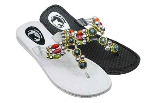 Wholesale Sandals with BEADS Style Straps - 36 Pairs