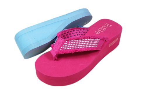Wholesale SANDALS - Wedge Heel Flip Flops - 36 Pairs