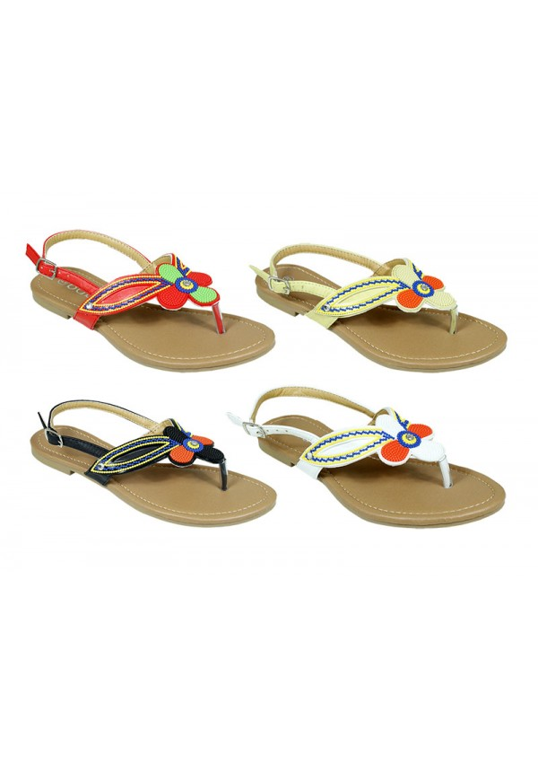 add7e0fc4 Wholesale Sandals Women s Sandals With Flower Design - 48 Pairs