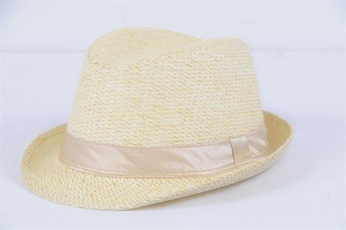 Wholesale STRAW Fedora HATs - STRAW HAT - 2 Doz
