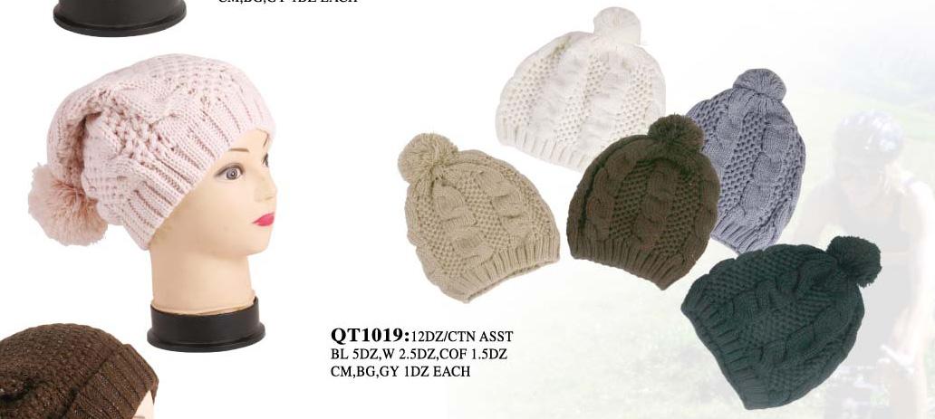 81c4272f952 Wholesale Closeout Pompoms Beanie Hats - 1 DZ