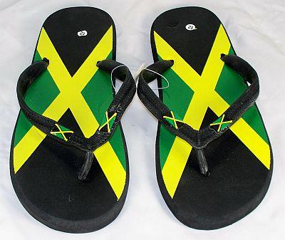Wholesale Jamaican Flag Sandals - Jamaica Flip Flops - 48 Pairs
