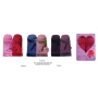 Wholesale Womens Faux Fur Fleece Winter Hat Scarf Gloves Sets - 2 Doz