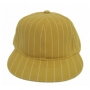 Wholesale Pinstriped Fitted Hats – Flat-Bill Caps - 12 Doz