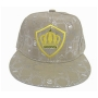 Wholesale Men's Flat-Bill Fitted Hats with Crown Emblem - 12 Doz