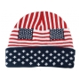 Wholesale Insulated US Flag Beanie - USA Flag Hat - 1 Doz