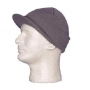 Wholesale Visor Ski Hats - Dark Grey Ski Hat - 1 Doz