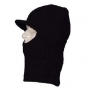 Black Open Face Ski Mask with Brim - 1 Dozen