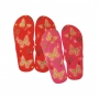 Wholesale Women's Thong Slippers with Butterfly Print - Thong Flip Flops - 72 Pairs