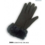 Wholesale Fleece Gloves with Faux Fur Wrist - 12 Doz