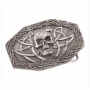 Gothic SKULL HEAD BELT BUCKLE-PEWTER