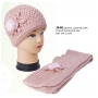 Wholesale Crochet Winter Set - Knit Hat & Scarf Set - 6 Dz