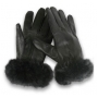Wholesale Women's Leather Gloves with Faux Fur - 1 Doz