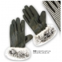 Wholesale Insulated Faux Fur Leather Gloves - 1 Doz