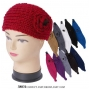 Wholesale Knit Winter Headband with Rose - 1 Doz